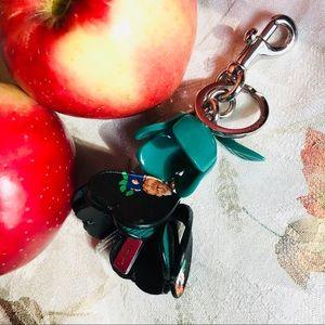 COACH tea rose Ltd Ed bag charm keychain